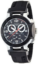 New Tissot T-Race Chronograph Black Rubber Men's Watch T0484172705700