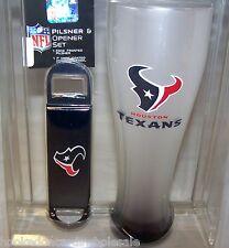 Houston Texans NFL 23 oz.Pilsner Glass & Bottle Opener Gift Set