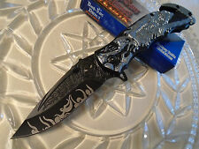 Dark Side Ballistic Assisted Grim Reaper Tactical Rescue Pocket Knife A023GY New