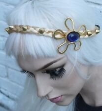 Déesse romaine or spike stud clous blonde tressé rétro front head band