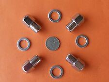 NEW CHROME MAG WHEEL NUTS Pack of 4 SUIT MOST MORRIS 1000 MOKE MINI TRIUMPH etc