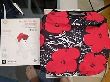 Bugaboo Donkey Andy Warhol Red Flowers Sun Canopy NEW