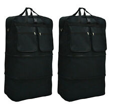 "Pack of 2, 40"" Black Wheeled Duffel Bags Large Rolling Spinner Suitcase Luggage"