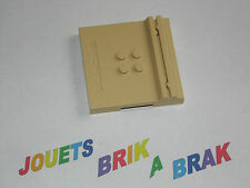 Lego Plaque Tile  Beige Tan  6x6 x 2/3 Four Studs and Card-holder Sport 45522