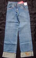 GYMBOREE ~ LOTS OF DOTS cuffed denim blue jeans ~ girls 10 SLIM