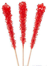 Strawberry Rock Candy On A Stick 62 Count  FREE SHIPPING