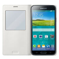 Genuine S-View Case Cover for Samsung Galaxy S5 - White EF-CG900BWEG