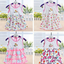 Lovely Baby Newborn Toddler Kids Colorful Soft Cartoon Summer Dress Clothes