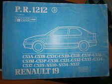 Renault 19 R19 hayon 3P : catalogue pièces PR1212-3