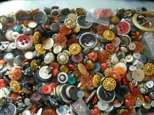 14+ lbs Mixed Buttons lot metal plastic sewon 2H 4H shank rhinestone fancy plain