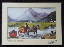 """Original signed print, MINT condition. Pat Kelly Gathering Seaweed.  80's  7x5"""""""