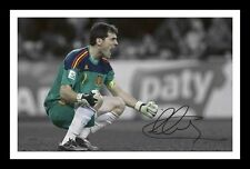IKER CASILLAS - SPAIN AUTOGRAPHED SIGNED & FRAMED PP POSTER PHOTO