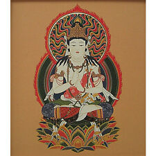 japanese shikishi dainichi nyorai/ guardian god born in Sheep and monkey year
