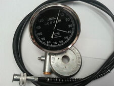 VINTAGE NORTON BSA TRIUMPH SMITHS SPEEDOMETER 0-120M WITH 54''CABLE AND DRIVE