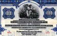 Deutscher Sparkassen und Giroverband USA Gold Anleihe 1926 Bank Sparkasse DSGV