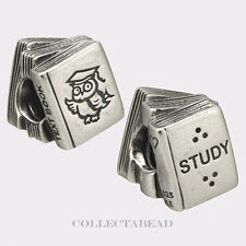 Authentic Pandora Sterling Silver Study Books Bead 790536