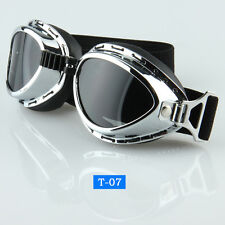 Vintage Motorcycle Bike Riding Goggles Eye Wear Protect Glasses Dark Lens