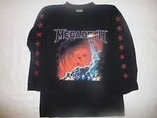 Official Licensed Megadeth Statue Of Liberty 2007 Tour L/S Shirt X/L NEW RARE