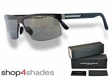 Porsche Design Titanium Semi Rimless Sunglasses CHOCOLATE_BLACK_GREY P8561 V723