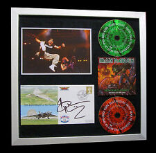 IRON MAIDEN+SIGNED+FRAMED+FEAR DARK+MIDNIGHT=100% AUTHENTIC+EXPRESS GLOBAL SHIP