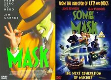 THE MASK / Son Of The Mask Collection Part 1 2 Jim Carrey, Alan NEW UK R2 DVD