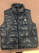 MONCLER DOWN VEST JACKET SIZE 2 BLUE