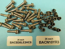 Boeing Aircraft 12 Point S.S. Bolts with Reduced Head Nuts (25+25)