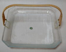 BEAUTIFUL RETRO HOYA CORDIAL GLASS PLATE WITH HANDLE NEW IN BOX