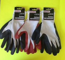 Lot of 3 Latex Palm Grip Gloves Bug Out Bag Prepper-Doomsday-Survival-Emergency