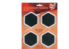 4 PACK FURNITURE SLIDERS GLIDERS MOVERS CARPET WOOD & LAMINATE FLOORING PROTECT
