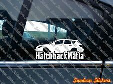 Lowered HATCHBACK MAFIA sticker - for Mazda 3 Mazdaspeed MPS (2007-2010)