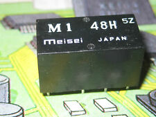 M1 48H  MEISEI Single Contact PC Mountable Relay -2AMP-DC-48V DPDT  JAPAN   1pcs