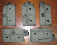 Lot of 5 Paraclete 12 rd shotgun shell pouch elastic loop smoke green molle OD