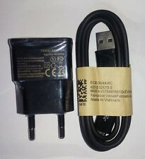Black USB Mobile Charger & Data Charging Cable For Samsung