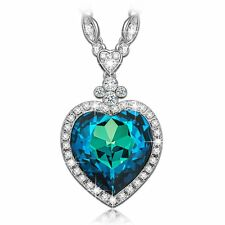 """LadyColour Valentines Day Gifts For Women """"Heart Of The Ocean"""" Titanic Sapphire"""