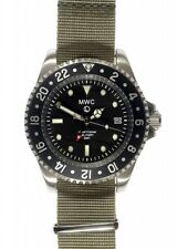 MWC GMT Dual Timezone Military Quartz 300M Divers Watch 2 x Straps NEW BOX
