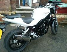 Hyosung GT650R GT650 Stainless Tri-oval Carbon Outlet ROAD LEGAL MTC Exhaust