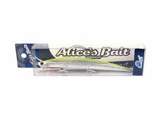 "NEW LONG JERK ""ALICE'S BAIT"" MINNOW 140 SLIM SINKING COLOR: AD03 SILVER YELLOW"