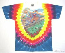 GRATEFUL DEAD Vintage T Shirt 90's Tour Concert 1994 Tie Dye HIPPY JAM BAND Bus