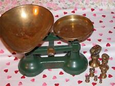 GENUINE VINTAGE VIKING GREEN SCALES + COMPLETE SET BELL WEIGHTS KITCHEN