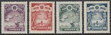 CHINA MANCHUKUO 1937 Hsinking Reconstruction Plan set of 4, mint MNH, SG#112-115