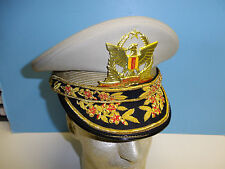 b4207-634 Vietnam RVN Army General Officer Visor Hat Size 6 3/4