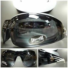MOTORCYCLE BIKER ATV DAY RIDING PADDED CHOPPERS SUN GLASSES GOGGLES Black White