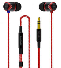SoundMAGIC E10 RED & Black Noise Isolating In-Ear Headphones Earphones Earbud