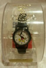 BLACK LORUS  DISNEY  MICKEY MOUSE  LADIES WATCH Never used w/ box