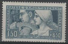 """FRANCE STAMP TIMBRE 252 c """" LE TRAVAIL BLEU VERT TYPE III """" NEUF xx LUXE  M756"""