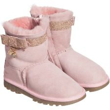 BLUMARINE BABY GIRLS PINK SUEDE DIAMANTE BOOTS SHOES EU 25 UK 8