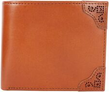 Fred Perry Brogue Detail Billfold & Coin Wallet Genuine Leather - Tan -L7323-448