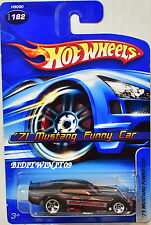 HOT WHEELS 2005 '71 MUSTANG FUNNY CAR #182 BLACK & RED
