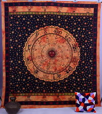 ASTROLOGY Zodiac Hippie Hippy Wall Hanging Indian Tapestry Throw Bedspread Decor